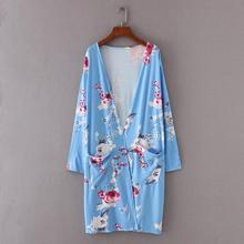 Buy Feitong Women Top Boho Print Floral Loose Shawl Kimono Cardigan Top Women Clothing Kimono Jacket Blusas Femininas for $8.62 in AliExpress store