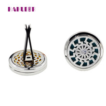 Perfume folder 10 Style Stainless Car Air Vent Freshener Essential Oil Diffuser Locket Pasta de perfume Carpeta perfume 17june15