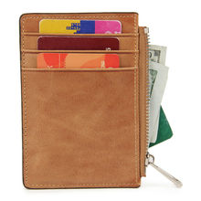 Buy Rfid Blocking Genuine Leather Credit Card Holder ID Card Case Coin Purse Zipper Men Wallets Minimalist Wallet Cards Bag for $10.32 in AliExpress store