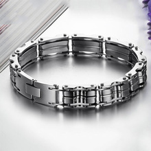 Heavy Cool Jewelry Titanium Stainless Steel Men Motorcycle Bike Chain Male Bangle Bracelet M509