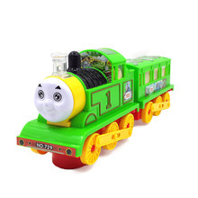 Small electric Thomas train light music universal educational toys Children's toys