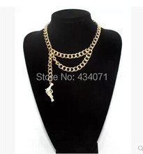 2014 Fashion kaiyun star rihanna chain chain gun short necklace sweater chain accessories wholesale F-200(China)