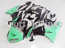 Fairings Fit Kawasaki Ninja 636 ZX6R ZX-6R Year 09 10 11 12 2009 2010 2011 2012 ABS Motorcycle Fairing Kit Metallic Green Black(China)