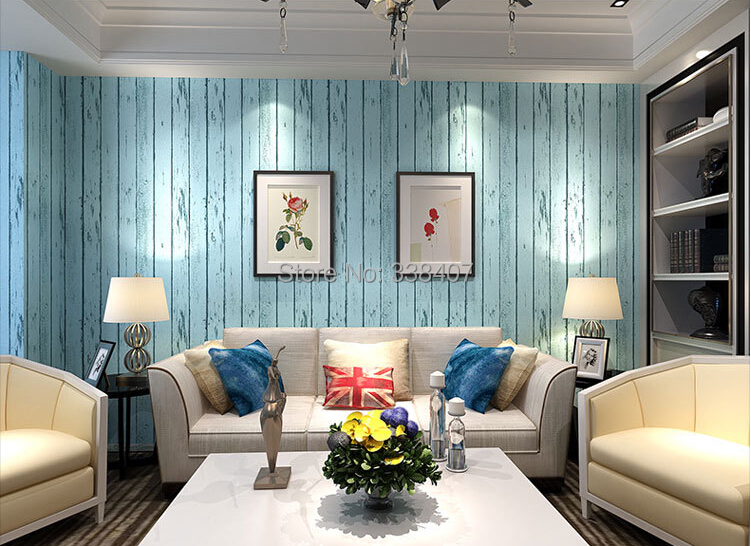 10 meter / roll Mediterranean Style Stripe Living Room / Bedroom Wallpapers Household Wallpapers<br>
