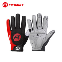 Arbot Windstopper Full Finger Men Women Cycling Gloves Screen Bike Bicycle Sport Shockproof Outdoor Sports Blue Red XL
