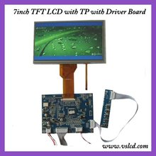 VGA+AV+OSD tft VGA driver board VS-MD07080V.2 +7inch  tft lcdwith touch screen panel 800x480 resolution AT070TN92 for car DVR