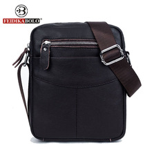 FEIDIKA BOLO Brand Genuine Leather Bag Men Messenger Bags Men Leather Handbags Small Crossbody Bags for Men Bag