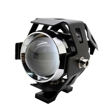 1Pcs LED Headlight High Power 125w Motorcycle Projector Lamp U5 3 Modes 3000LM Motorbike Head Fog Lamp Free Shipping