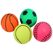 Durable Basketball/Soccer etc Shape Solid Spherical Rubber Small Bouncy Ball Dog Training Chewing Pet Toys(China)