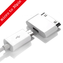 Micro USB to 30 Pin USB Adapter Connector Converter Cable Adapter for iPhone 4 4s 4G 3GS Phone For iPad iPod Charger Adaptor