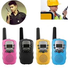 T-388 Dual 1Pair 4 Colors Adjustable Mini Portable 5KM Multi Channels 2-Way LCD UHF Car Auto Radio Wireless Travel Walkie Talkie