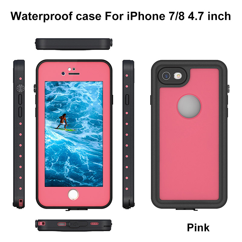 6.For iphone 7 8 plus waterproof case
