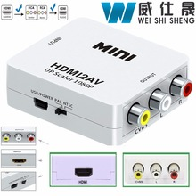 Original HD 1080P HDMI To AV/RCA CVBS Adapter Mini HDMI2AV Video Converter Box For HDTV TV PS3 Computer PC VCR NTSC