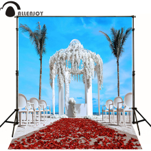 300*600cm(10ft*20ft) fondos fotografia Wedding background petals Road Beach photography backdrops