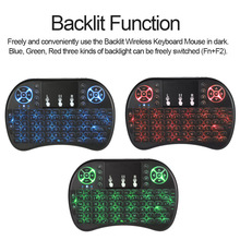 Backlit 2.4GHz Wireless Keyboard Air Mouse Touchpad Handheld Remote Control Keyboard  for Android TV BOX PC Smart TV No battery