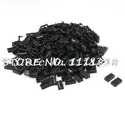 200 Pcs FC-16P 16 Pin Male IDC Socket Plug Ribbon Cable Connector Black<br>