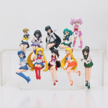5pcs/set Anime Sailor Moon Action Figures Cup Table Decoration PVC Figure Model Toys