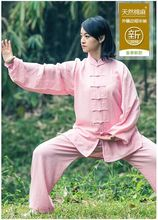 Spring, summer,Natural cotton and linen tai chi suit Long sleeve fall close skin soft uniforms tai chi clothing