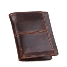 Fashion Factory outlets Men's wallet Leather Credit Card Clutch Pocket coin Purse Multifunction brown free shipping