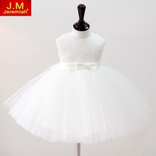 JEREMIAH Baby Girl Christening Gowns Kids Girls Wedding Dress Hand Beading Party Dress tutu Dress Infant girl Baptism Dress