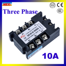 Factory supply DC TO AC 10A SSR Three phase Solid State Relay SSR-10DA
