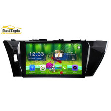 NAVITOPIA 10.1inch Quad Core Android 6.0 Car Stereo Radio For Toyota Corolla(2014-2016) Car PC Audio Mirror Link With GPS Navi(China)
