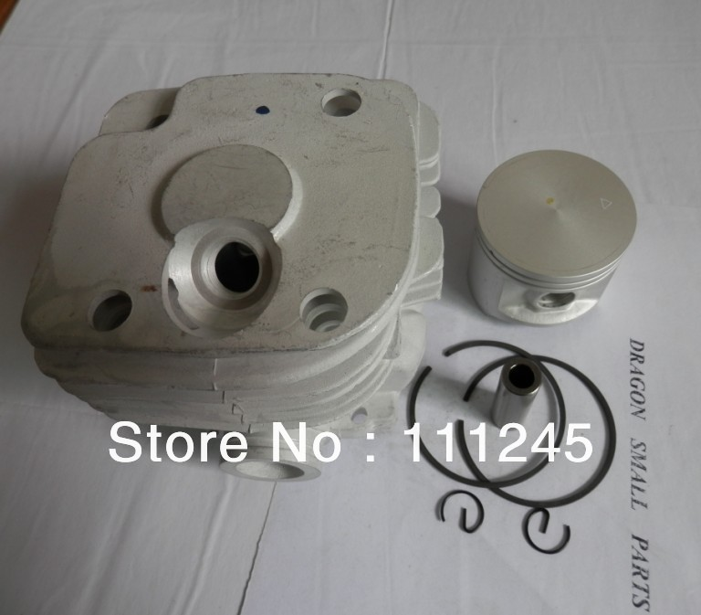 CYLINDER KIT 50MM ROUND AIR INTAKE FOR HUS. CHAINSAW 365 371 372 XP CHAIN SAW ZYLINDER PISTON RING SET CLIP PIN KIT<br>