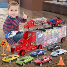 Traffic Scene Simulation Magic Toy Truck With City Map Traffic Parking Train Track Car Model Best Gift Car Toys For Boys Kids(China)