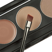 MELOSION best seller Makeup 3 Colors Eyebrow Powder Concealer Palette With Mirror Eyebrow Brush #30