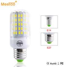 LED Lamp Bulb AC 220V 230V E14 E27 Light Bulbs SMD 5730 24 30 42 64 80 89 108 136leds Ampoule Bombillas Lighting for Home