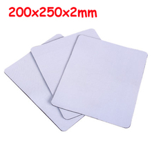Free Shipping 20*25*0.2cm Blank Sublimation Pads Rectangle Shape High Quality DIY Printing Transfer Mouse Pad 10pcs/lot(China)
