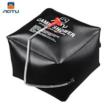 40L /10 Gallons Solar Energy Heated Shower Bag Utility Black PVC Water Bag Portable Shower Bag For Camping Outdoor Water Storage(China)