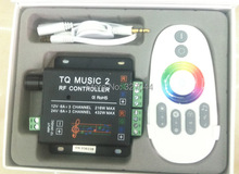2-24V 18A 2CH RGB  V2 Music led controller touch dimmer Sound/Audio control+RF Touch Remote