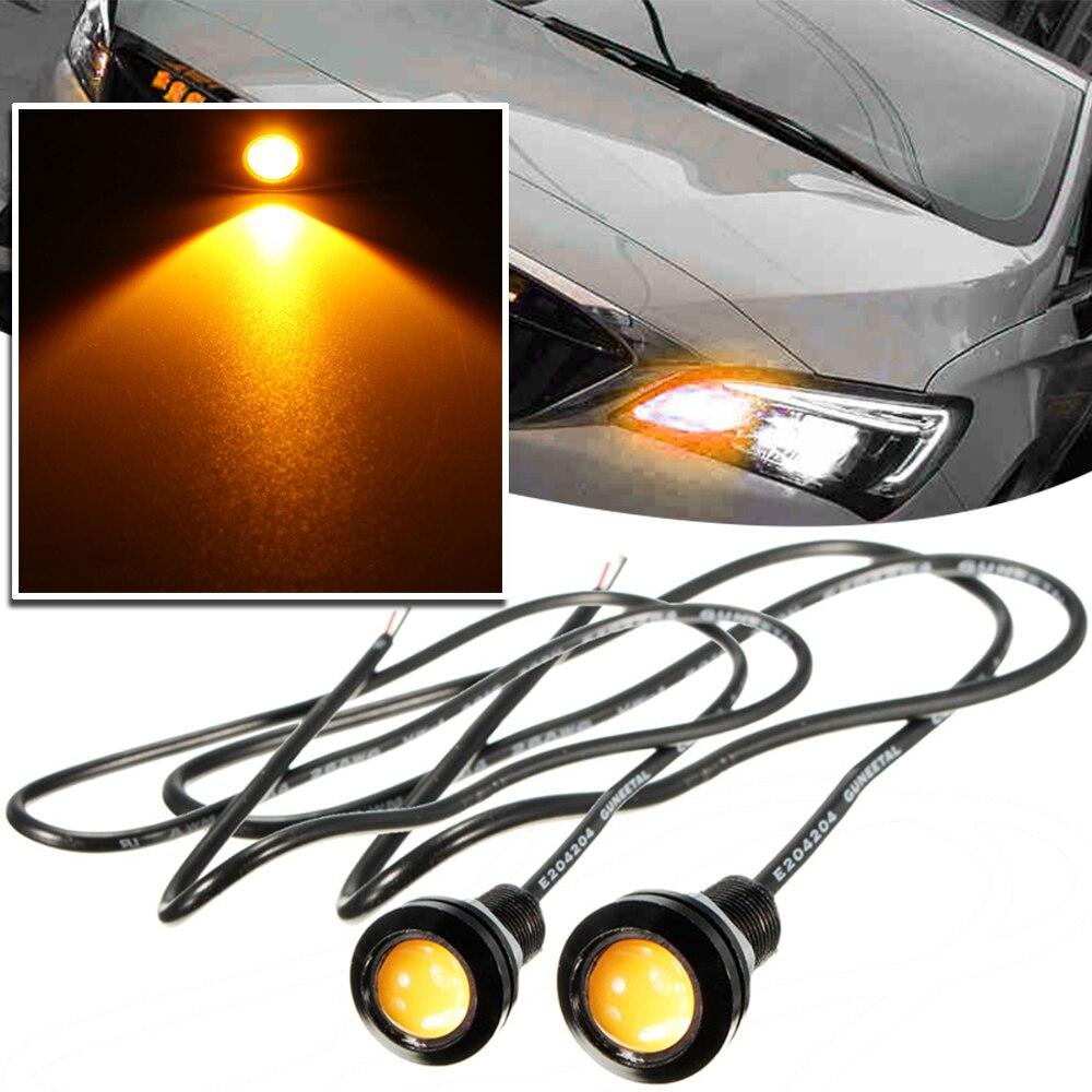2Pcs 18MM Car Daytime Running Led Eagle Eye Lights DRL LED 12V Driving Fog Lamp