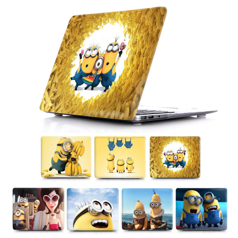 Cool Cartoon Minions Crystal Case Cover For Apple macbook Air Pro Retina 11 12 13.3 15.4 laptop bag Mac book 15 13 inch<br><br>Aliexpress