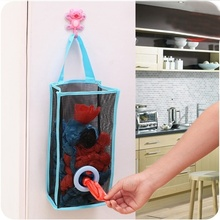 Breathable Mesh Hanging Kitchen Garbage Bag Toy Storage Packing Shopping Bag Organiser Insert Sac De Rangement Home Pouch(China)