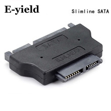 Slimline SATA Adapter Serial ATA 7+15 22pin Male to Slim 7+6 13pin Female Adapter(China)