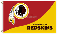 Washington Redskins logo Redskins  Flag 3x5FT NFL banner150X90CM 100D  Polyester brass grommets custom flag, Free Shipping