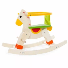 MWZ Baby 12M+ Wooden Rocking horse Solid Wood Rocking chair Ride on Horse Removable Fence Trojan For Children Kids Gifts(China)
