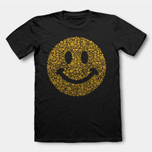 ACID HOUSE SMILEY FACE T SHIRT 90'S RAVE T-shirt Homme 2017 New Youth 2017 Men T Shirt Fashion T Shirt O-Neck Men(China)