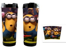 100pcs/lot Despicable Me 2 Minion cup bottle anime cup cute travel mug thermos minion mug