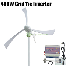 Free shipping 400w wind generator +500w 3phase AC 10.8V-30V/AC22-60V input wind grid tie inverter no need battery,AC 110v/220v(China)