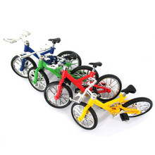 1Pc Professional Flick Trix Finger Bmx Mini Finger Bikes Model Alloy Stents Finger Bicycle Children Toys Random Color Delivery(China)