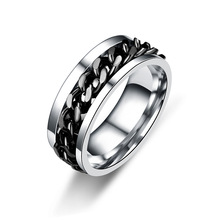 Men's Titanium Steel Rings can be turned Valentine's Gifts for Men's Jewelry 8RD178(China)