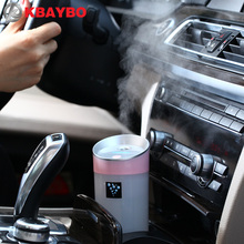Car humidifier USB Aromatherapy diffuser essential oil diffuser air Ultrasonic humidifier air Aroma diffuser mist maker 300ML(China)