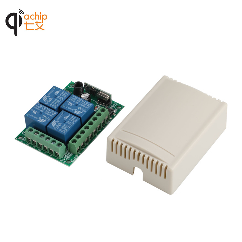 433Mhz-Universal-Wireless-Remote-Control-Switch-DC12V-4CH-relay-Receiver-Module-and-2pcs-4-channel-RF (2)