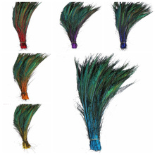 10pcs high quality multiple Colour peacock feather 30-35cm/12-14inch jewelry wedding halloween decorative Feathers Plumes