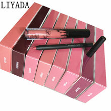 2017 Kilie makeup matte liquid lipstick lip pencil lasting waterproof tint tattoo melted lipkit cosmetics kit batom liyada brand