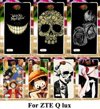 Hard Plastic Soft TPU Silicon Mobile Phone Cases For ZTE Blade Q lux 4G A430 4.5'' Qlux 4G Covers Naruto Skull Head Skin Shell