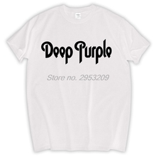 DEEP PURPLE T-shirt New Logo Black T shirt S-XXL Classic Rock Hard tee Kiss